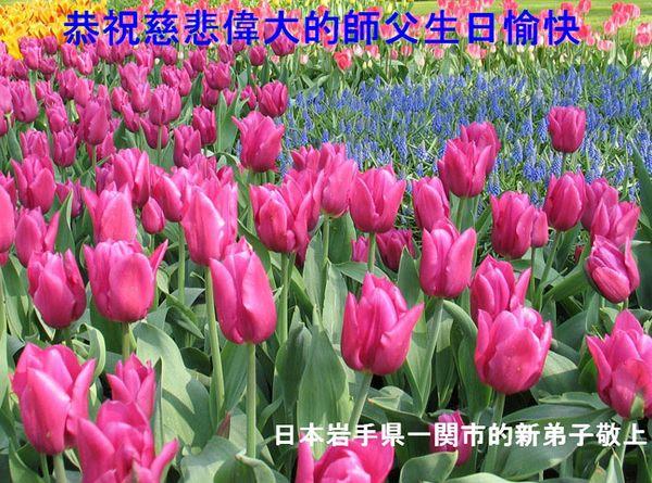Поздравление от последователей Фалуньгун Японии