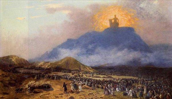 Мойсей на горі Сінай. Фото з сайту liveinternet.ru