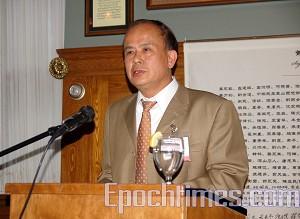 Лидер Китайской демократической социальной партии Лю Гокай. Фото: Сю Мин/Великая Эпоха