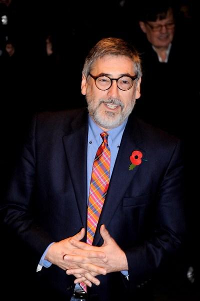 Режисер Джон Лендіс на прем'єрі «Берк і Хейр» у Лондоні, 25 жовтня. Фото: Ian Gavan/Getty Images