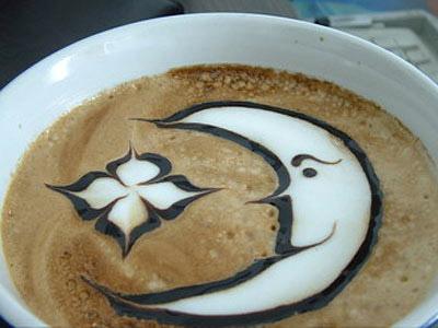 Рисунки на кофейной гуще. Фото с secretchina.com