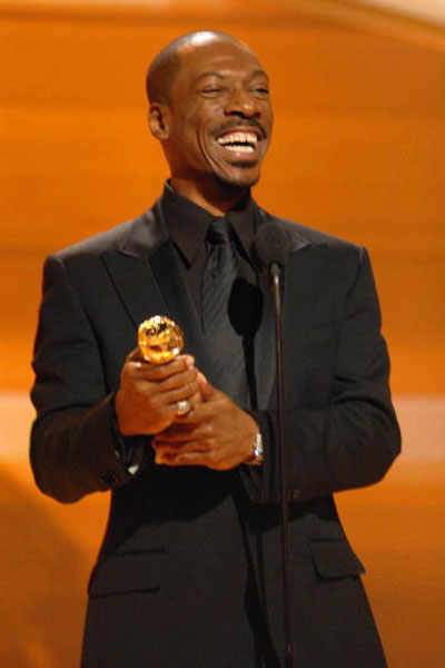 Знаменитий актор-комік Еді Мерфі (Eddie Murphy) отримав 'Золотий глобус' за краще виконання чоловічої ролі другого плану у фільмі 'Дівчата мрії' ('Dreamgirls'). Фото: Bob Long/HFPA via Getty Images