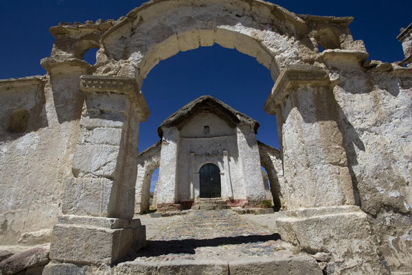 Руины старой церкви в Национальном парке Сахама, Боливия. Фото: JOГO PADUA / AFP / Getty Images