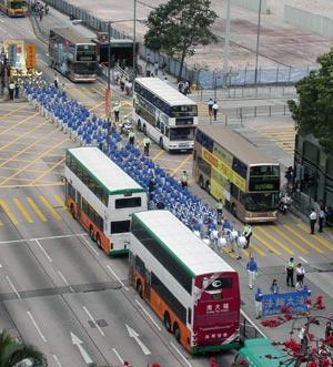 Парад шествует по Монкок. Фото: Гоминь Ли/Великая Эпоха