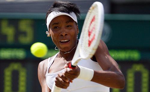 Американка Вінас Уїльямс (Venus Williams) під час фінальної гри на Уїмблдонському турнірі. Фото: JOE KLAMAR/AFP/Getty Images