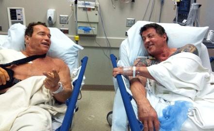 Шварценеггер и Сталлоне оказались в одной больничной палате