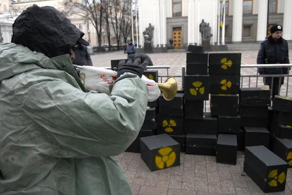 Акція протесту проти будівницітва ядерного сховища. Фото: Володимир Бородін/The Epoch Times