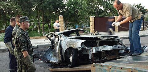 В Житомирі внаслідок ДТП вибухнув автомобіль. Двоє людей загинули