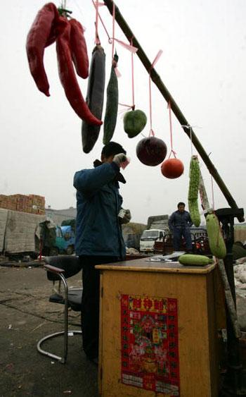 25 лютого, 2007 р. Овочевий ринок у Пекіні. Фото: China Photos/Getty Images