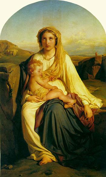 Поль Деларош. Мадонна с Младенцем. Частная коллекция. Изображение: Art Renewal Center, artrenewal.org