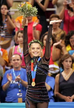 Олімпійське «золото» Аліни Кабаєвої, Афіни (Греція) 2004 р. Фото: KAZUHIRO NOGI/AFP/Getty Images