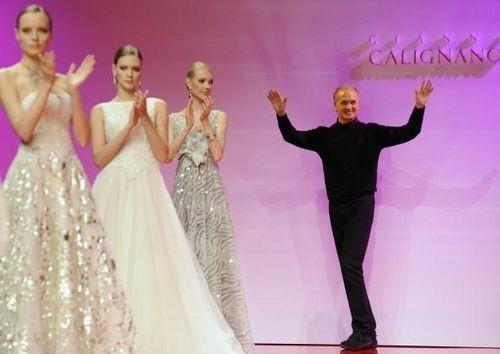 Колекція жіночого одягу від італійського дизайнера Gianni Calignano, представлена 29 січня на показі мод у Римі. Фото: ANDREAS SOLARO/AFP/Getty