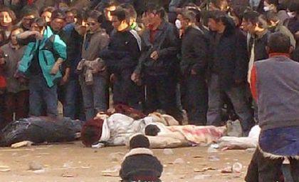 Кровавое подавление демонстраций протеста в Тибете. Фото с epochtimes.com
