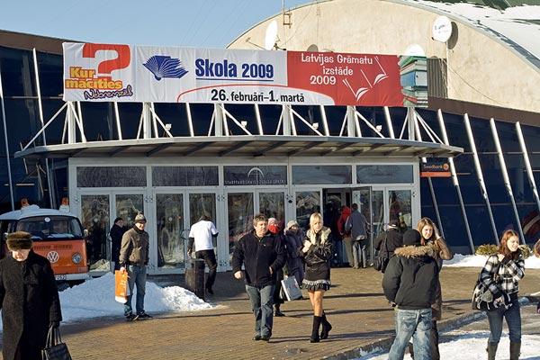 Вход в павильон, где проходила книжная выставка LATVIAN BOOK FAIR 2009. Фото: The Epoch Times