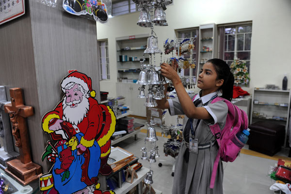 В Індії готуються до різдва. Фото: SAM PANTHAKY / AFP / Getty Images