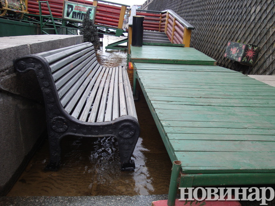 Повінь у Києві. Фото: novynar.com.ua