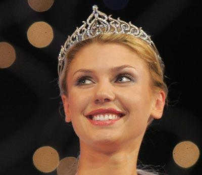 *Міс Білорусь-2006* стала могилевчанка Катерина Литвинова. Фото: AFP Photo/ VIKTOR DRACHEV
