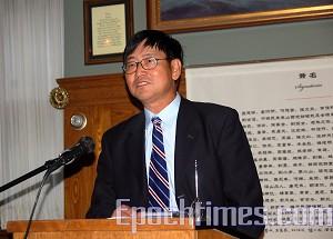 Председатель Китайского альянса за демократию Сю Вэй. Фото: Сю Мин/Великая Эпоха