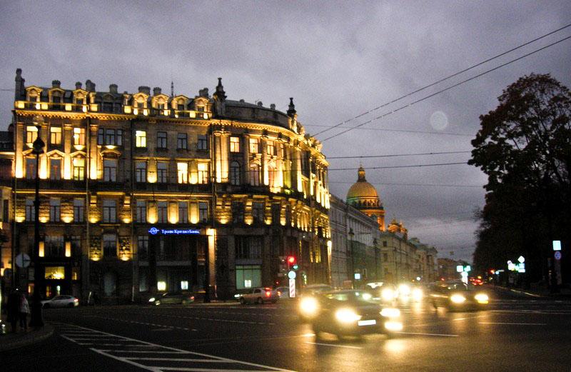 Пересечение Невского и Адмиралтейского проспектов. Фото: Алла Лавриненко/The Epoch Times Украина