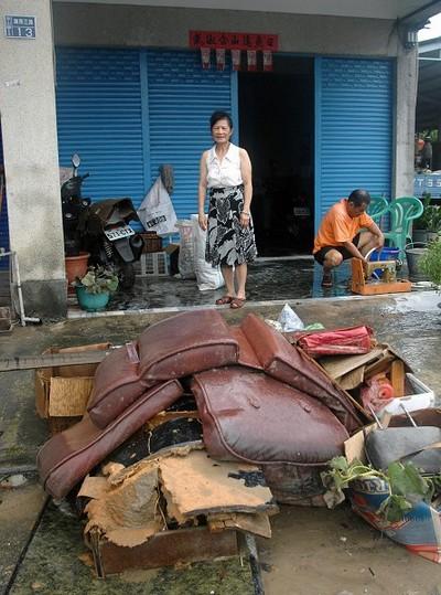 Наслідки тайфуну «Моракот» в Тайвані. 10 серпня 2009 року. Фото: ЦАН