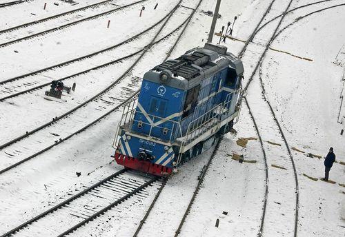 26 січня, м. Ухань провінції Хубей. Із-за сильних снігопадів практично не ходять потяги. Фото: AFP