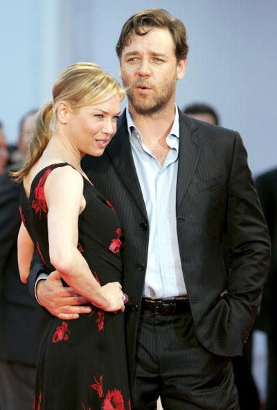 Рассел Кроу та Рене Зеллвегер на прем'єрі фільму 'Нокдаун'. Фото: Chris Jackson / Getty Images