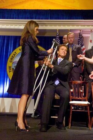 Церемонія інавгурації Арнольда Шварценегера: Арнольд Шварценегер і Марія Шрівер. Фото: Pool/Getty Images News