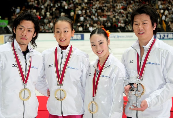 Команда Японії: Дайсукє Такахаші, Мао Асада, Юкарі Накано, Такеші Хонда. Фото: Koichi Kamoshida/Getty Images