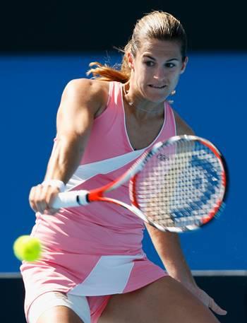 Амелі Моресмо (Франція) (Amelie Mauresmo of France) під час відкритого чемпіонату Австралії з тенісу. Фото: Cameron Spencer/Getty Images