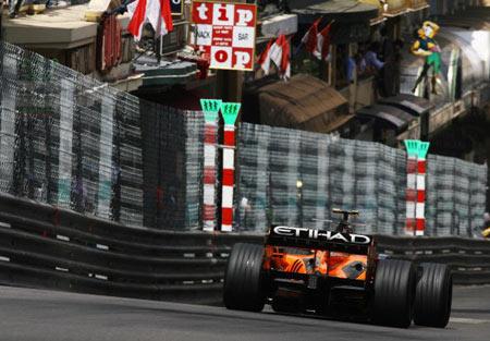 Монте-Карло, МОНАКО: Крістіан Альберс (Christijan Albers) з Нідерландів ('Spyker F1') під час гонок. Фото: Clive Mason/Getty Images
