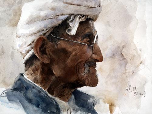 Акварель Гуань Вэйсина «Старый крестьянин из Шаньбэя». Фото: Ambleside Gallery