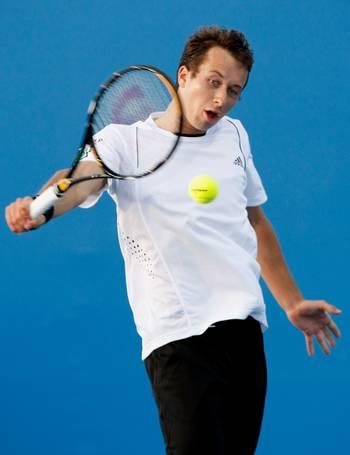 Філіп Кольшрайбер (Німеччина) (Philipp Kohlschreiber of Germany) під час відкритого чемпіонату Австралії з тенісу. Фото: Quinn Rooney/Getty Images