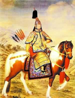 «Император Цяньлун на осмотре войск». Лан Шинин