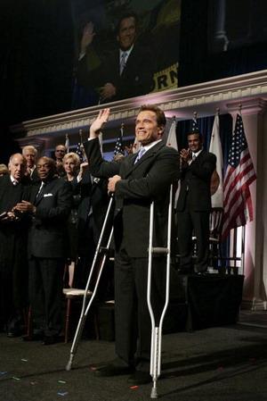 Інавгурація переобраного губернатора Каліфорнії Арнольда Шварценегера. Фото: David Paul Morris/Getty Images News