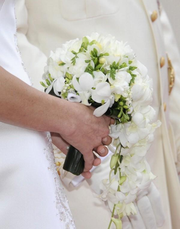 Букет невесты. Фото: DAMIEN MEYER/AFP/Getty Images