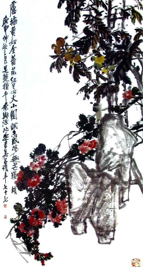 Троянда. Художник У Чаншо. 1920 р. Фото із secretchina.com