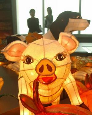 Тайвань. Тайбэй. Фонарик в виде свиньи. Фото: Patrick Lin/AFP Photo