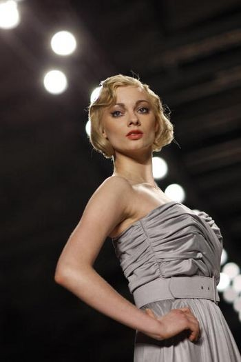 Колекція жіночого одягу весна/літо 2008 і осінь / зима 2008/2009, представлена 27-31 січня на показі мод в Берліні. Фото: AFP / Getty Images