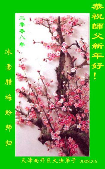 Поздоровлення від послідовників «Фалуньгун» району Нанкай м. Тянцзін. Фото з minghui.org
