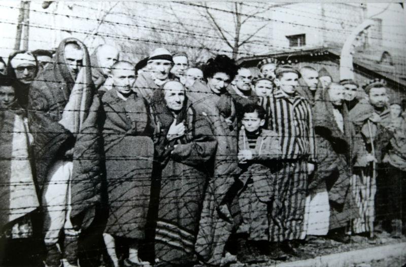 Люди які вижили в таборі Освенцім-Біркенау. Січень 1945 р