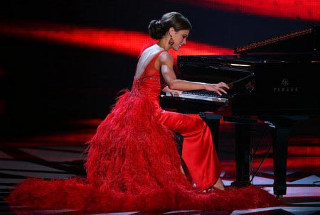 Мисс Миссиссиппи. Taryn Foshee в музыкальном конкурсе. Фото: Ethan Miller/Getty Images