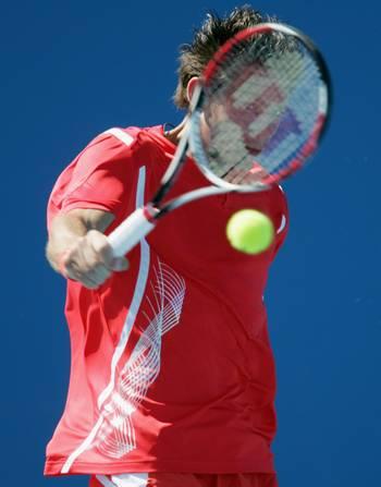 Гільєрмо Гарсія-Лопес (Іспанія) (Guillermo Garcia-Lopez of Spain) під час відкритого чемпіонату Австралії з тенісу. Фото: Robert Prezioso/Getty Images