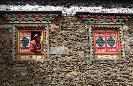 Вікна традиційного тибетського будинку. Фото: China photos/ Getty image