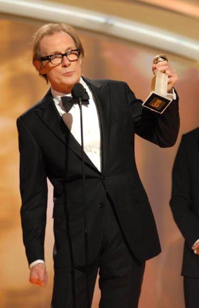 Білл Найі (Bill Nighy), який став 'Кращим актором у міні-серіалі або фільмі, зробленому для телебачення' за роль у 'Gideon's Daughter' Фото: Bob Long/HFPA via Getty Images
