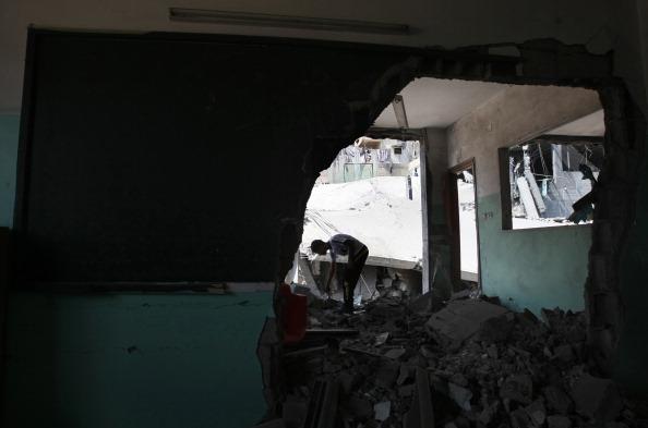 Руїни в Бейт-Лахиї 25 серпня 2011 у результаті ізраїльського бомбардування. Фото: Mohammed Abed / Getty Images