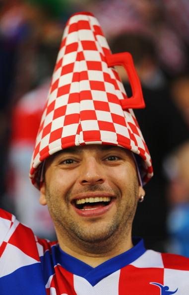 Болельщик сборной Хорватии перед матчем между Ирландией и Хорватией 10 июня 2012 года в Познани, Польша. Фото: Christof Koepsel/Getty Images