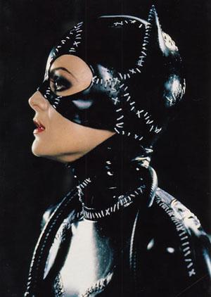 В роли Женщины-кошки в фильме «Возвращение Бэтмена» (1992). Фото: http://catwoman.iespana.es