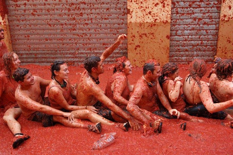 Помідорна битва на фестивалі «Ла Томатина», Буньоль, Іспанія. Фото: Ander Gillenea/Getty Images