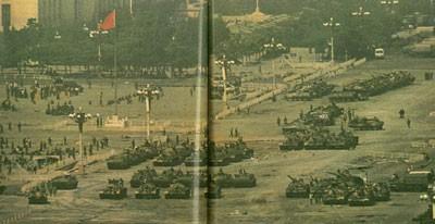 Восстание студентов на площади Тянь-Ань-Мэнь в 1989 г. было жестоко подавлено китайской компартией. Фото с 64memo.com
