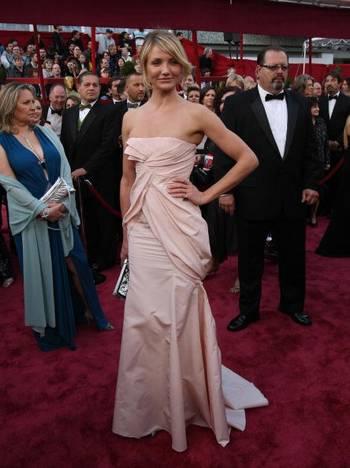 Актриса Камерон Диаз (Cameron Diaz) посетила церемонию вручения Премии 'Оскар' в Голливуде Фото: Timothy A. Clary/AFP/Getty Images